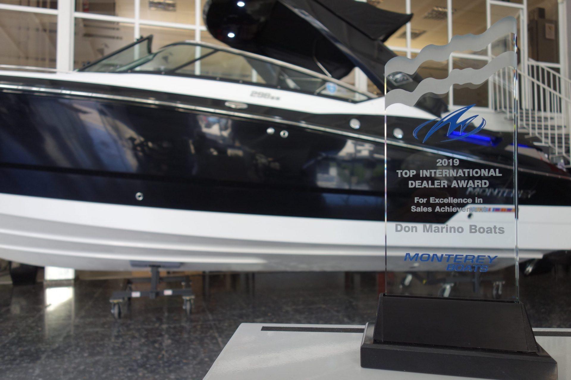Don Marino Boats #1 international dealer on sales achievements during the 2019 season...