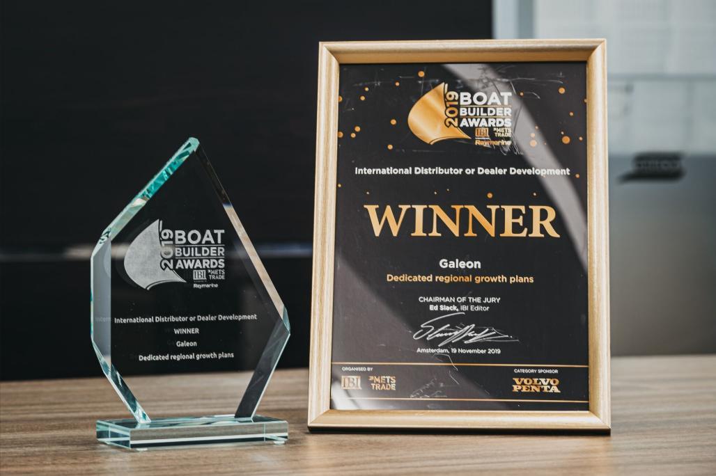 Galeon Yachts Premio en la categoría de crecimiento de red internacional